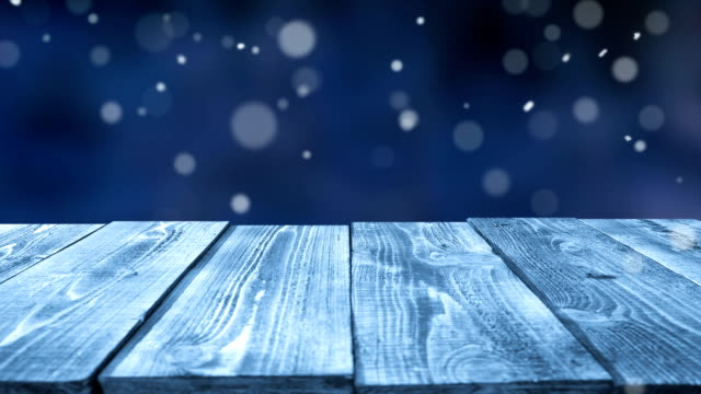Frozen table outdoors - loopable video