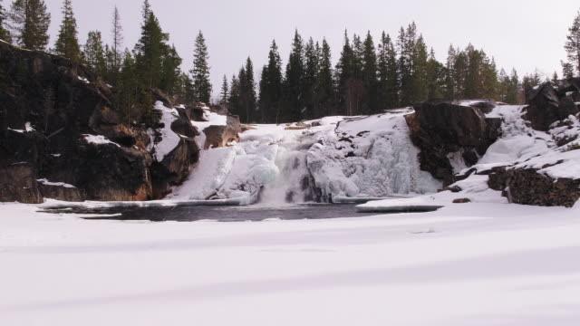 Frozen waterfall video