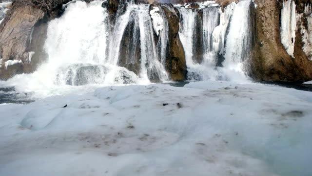 遅い mot - 滝の凍結 - アナトリア点の映像素材/bロール