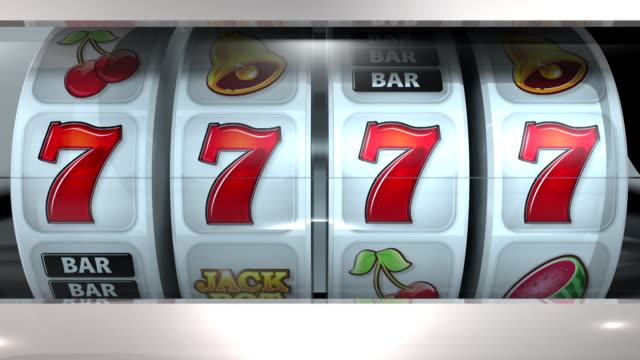 Fruit Machine: 4 Reels – Sevens Slot Machine. Animation of winning lines. Gambling. Winner. Copy Space. cherry stock videos & royalty-free footage