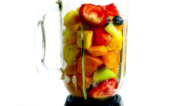 Fruit Smoothie Blended And Poured video