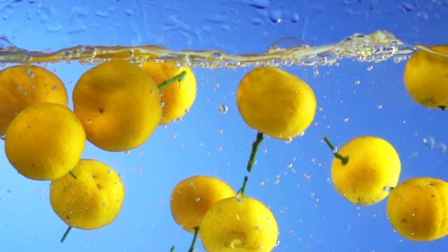 MONTAGE Fruit Splashing Into Water video