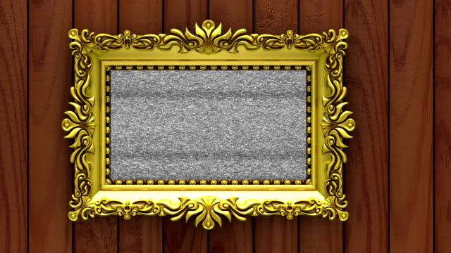 Fruits in gold picture frames