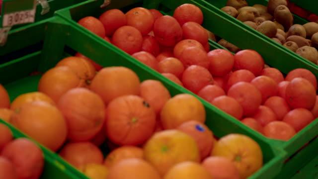 Fruits in super market video