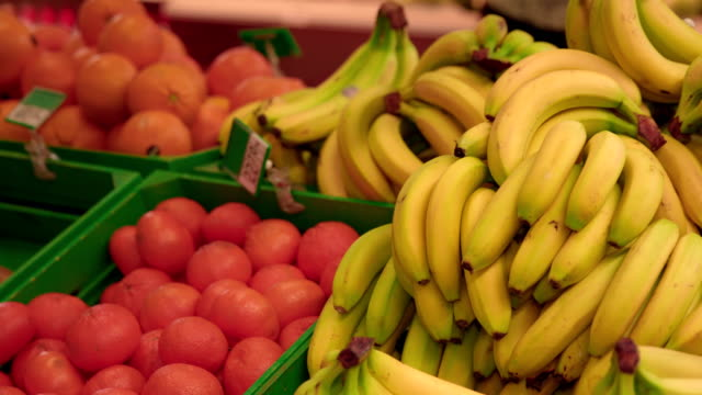 Fruits in super market video