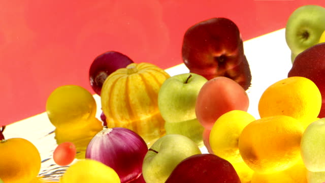 fruits in water video