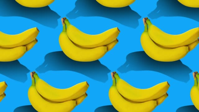 fruits pattern on color background. - pop art video stock e b–roll