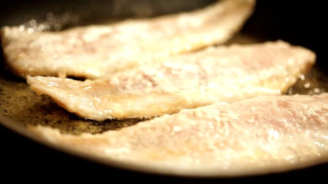 Frying fish video