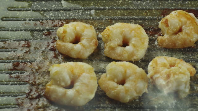 Frying Shrimps with Sugar on Frying Pan video