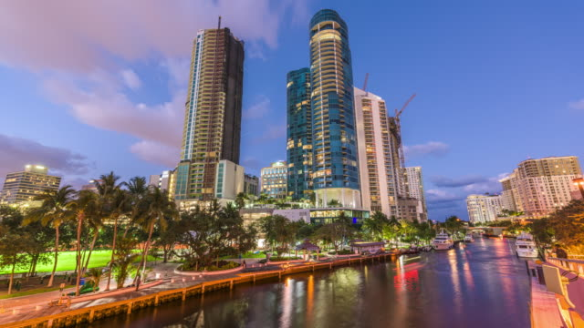 Ft. Lauderdale, Florida, USA cityscape on the river