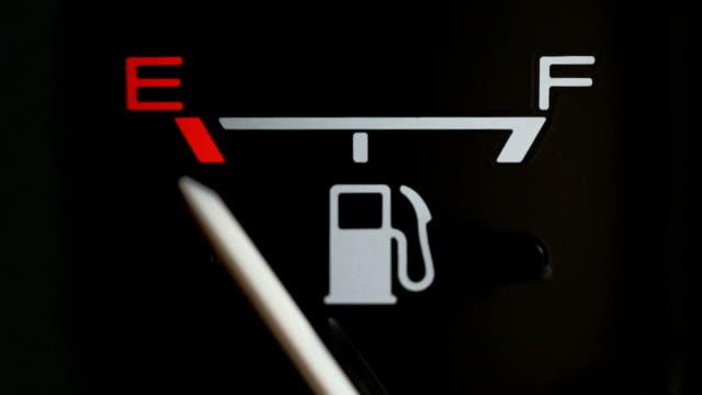 vídeos de stock, filmes e b-roll de combustível gage (vazio para total) - gasolina