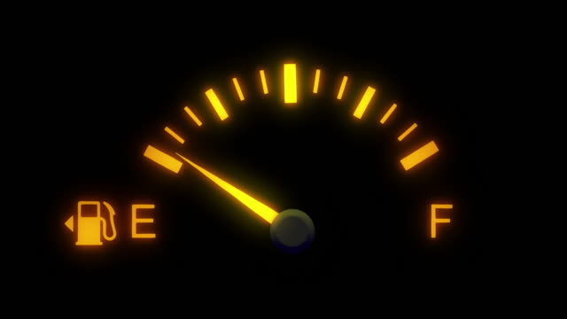 Fuel gauge car dashboard fills up. Fuel gauge car dashboard fills up. dashboard vehicle part stock videos & royalty-free footage