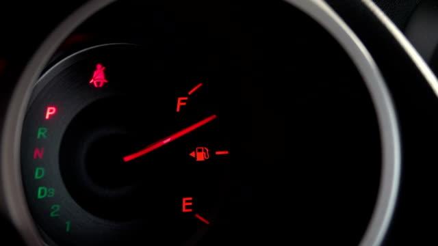 HD: fuel gauge fill gas video