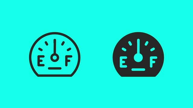 Fuel Gauge Icons - Vector Animate