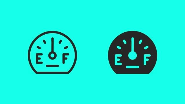 Fuel Gauge Icons - Vector Animate Fuel Gauge Icons Vector Animate 4K on Green Screen. dashboard vehicle part stock videos & royalty-free footage