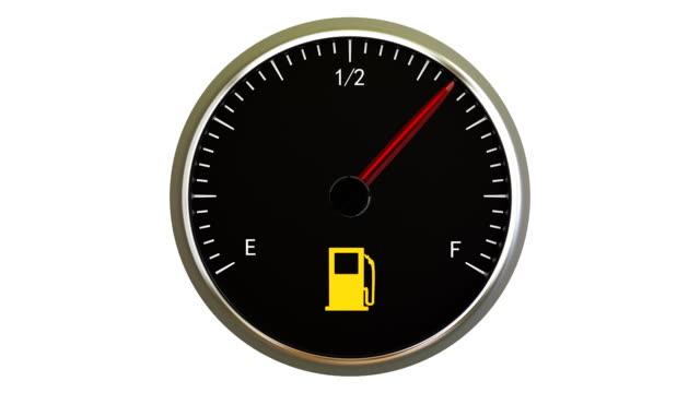 Fuel Gauge Fuel Gauge refueling stock videos & royalty-free footage