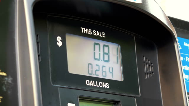 Fuel Pump Counter Dollars in 4K video