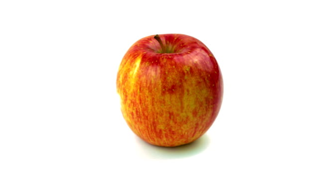 Fuji apple on white background video