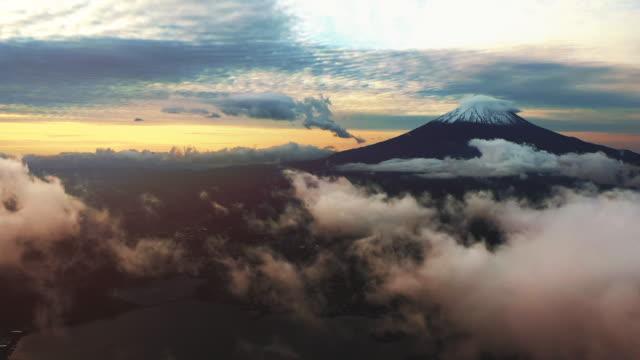 富士山空中写真 - 日本文化点の映像素材/bロール