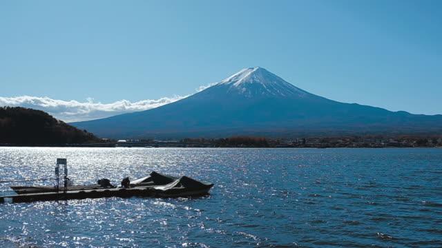 Fuji mountain from lake Kawaguchiko , Japan