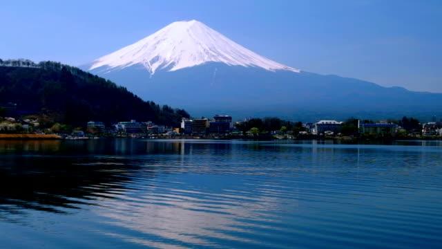 vidéos et rushes de mont fuji réflexion de l'eau - lac reflection lake