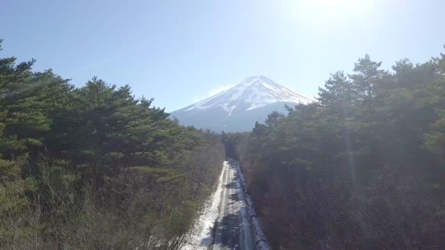 日本の美しい冬の富士山 - 富士山点の映像素材/bロール