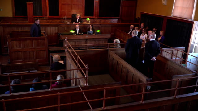 4K: Full Courthouse for Court Hearing video