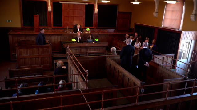 4K: Full Courtroom for Legal Court Case video