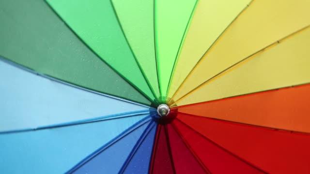 Full frame shot of colorful umbrella video