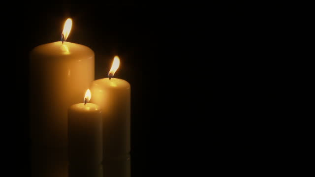 full hd seamless loop of 3 candles - ntsc 30fps - communion stock videos and b-roll footage