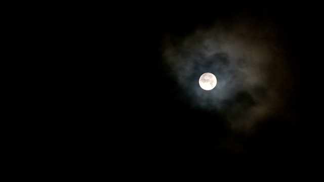 Full moon and clouds video