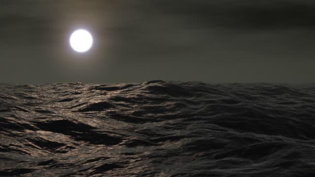 vídeos y material grabado en eventos de stock de luna llena y al mar - marea