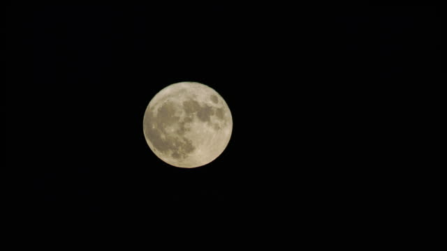 Full moon at night video