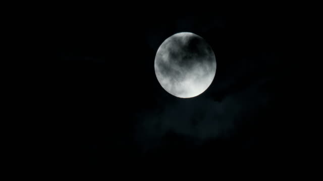 Full Moon Cloud Close Up - video