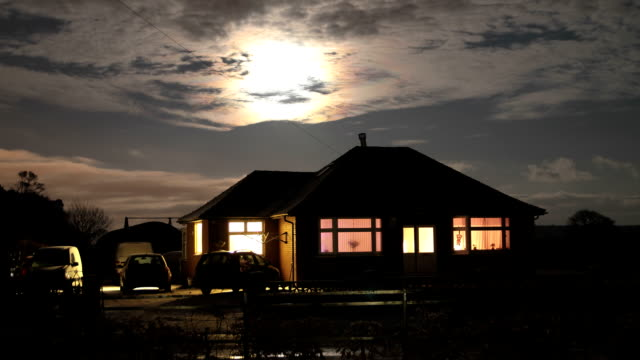 full moon - over a house video
