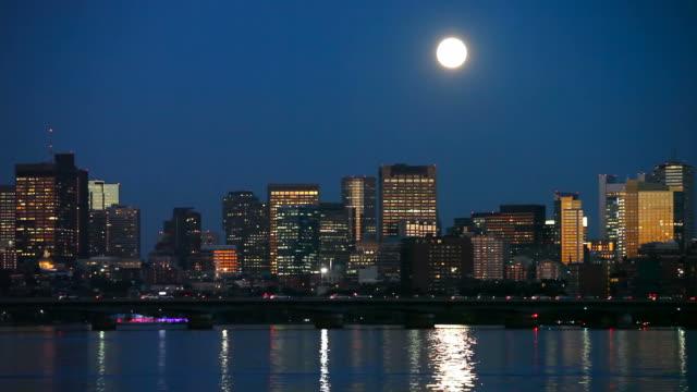 Full moon over Boston video