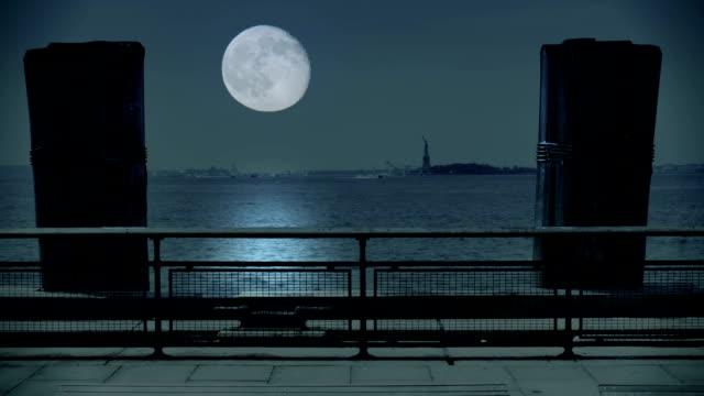 Full Moon Over Hudson River video