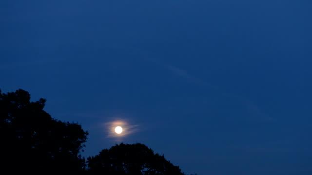 full moon rising, tidsinställd - nightsky bildbanksvideor och videomaterial från bakom kulisserna