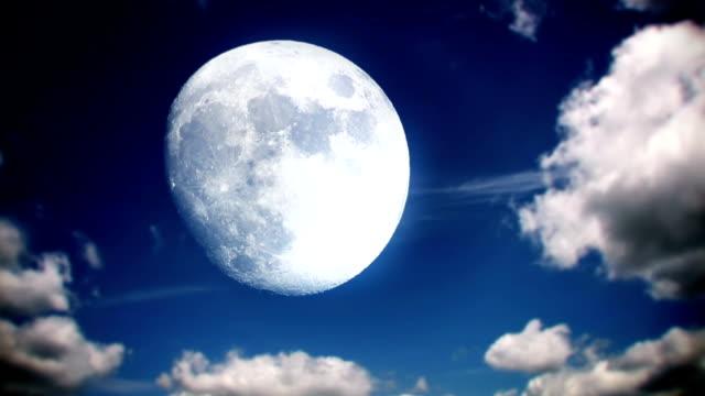 Full Moon Sky Time Lapse video