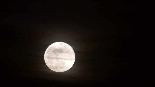 full moon - spazio e astronomia video stock e b–roll