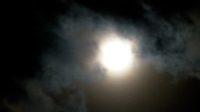 Full Moon with Clouds video