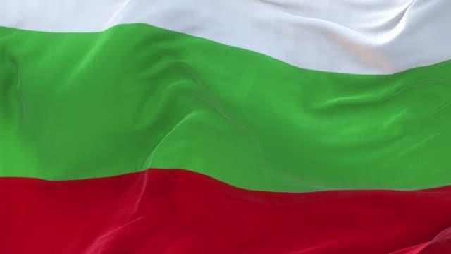 full screen bulgarian flag is waving slowly - bułgaria filmów i materiałów b-roll