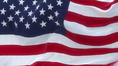 stockvideo's en b-roll-footage met volledige scherm usa vlag is zwaaien langzaam - 4k resolutie
