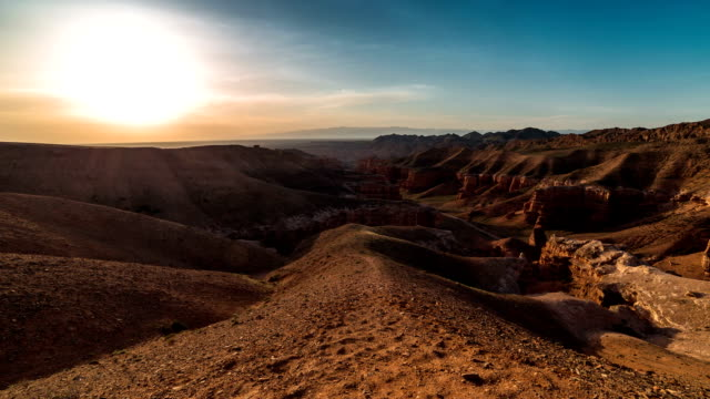 FullHD TimeLapse. Panorama Charyn grand canyon video