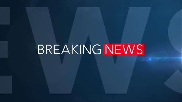 vidéos et rushes de «breaking news» - fullscreen 3d motion graphic (bleu) - interview
