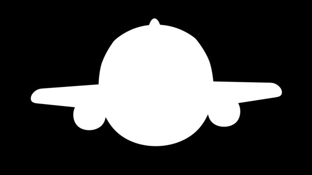 Fun 3D cartoon plane character video