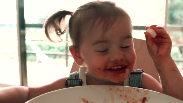 Fun Baby Spaghetti video