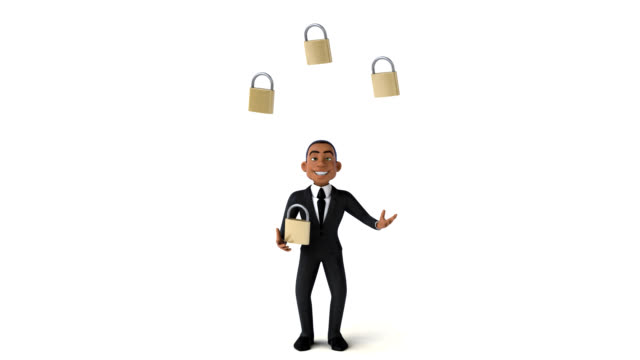 Fun businessman - 3D Animation Fun businessman - 3D Animation antivirus software stock videos & royalty-free footage