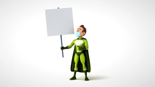 Fun cartoon superhero video