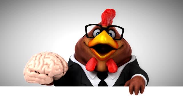 vídeos de stock e filmes b-roll de fun chicken - 3d animation - filosofia